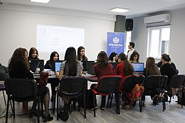 "Workshop within the framework of the ""Girls in ICT"" international event, Wikimedia Armenia 02.jpg"