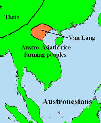 Vietnamese people - Map of Văn Lang, 500 BC.