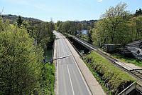 Wuppertal - Wupperbrücke Porta Westfalica Ost + Fischbauchbrücke (Brücke Siegelberg) 02 ies.jpg