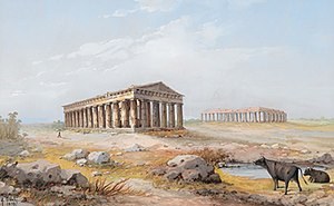 Second Temple of Hera (Paestum) - Image: Y gianni Tempel Paestum 1898