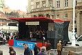 Záhřeb, Trg Bana Josipa Jelačića, gorski kotar - folková hudba.jpg