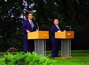 Jarosław Kaczyński - Polish Prime Minister Jarosław Kaczyński with Spanish Prime Minister José Luis Rodríguez Zapatero