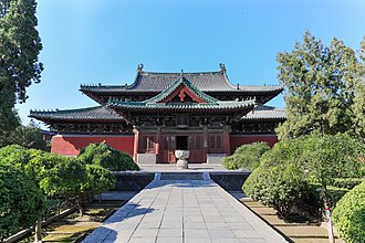 Chinese architecture - Hall of Moni(摩尼殿)in the Temple of Longxing(隆兴寺).It was built in Song dynasty(宋朝).