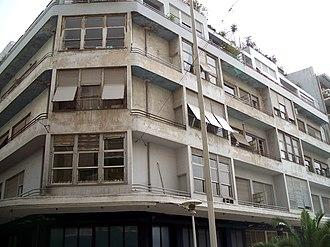 Modern architecture in Athens - The ''Ble Polykatoikia'' on Exarcheia Square, designed in 1932 by Kyriakos Panagiotakos.