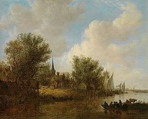 A River Landscape with a Parish Church