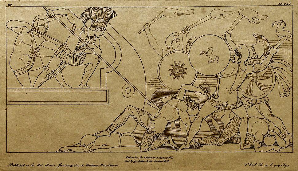(20) Flaxman Ilias 1795, Zeichnung 1793, 194 x 338 mm