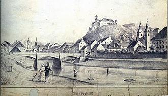 St. James's Bridge - St. James's Bridge in 1836