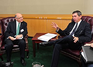 Argentina–Greece relations - The Foreign Minister Stavros Lambrinidis meeting with Argentine Foreign Minister Hector Timerman on the sidelines of the 66th UN General Assembly