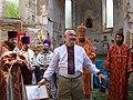 Є. Жеребецький на освченні храму с. Білоцерківці.jpg