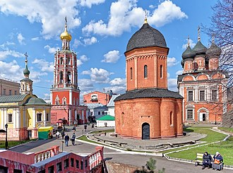 Vysokopetrovsky Monastery - The katholikon (main church) was one of the first rotundas in Russian architecture.