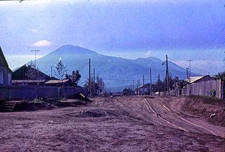 Kurilsk Town in Sakhalin Oblast, Russia