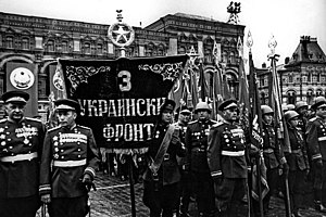 3rd Ukrainian Front - 3rd Ukrainian Front on parade at the 1945 Victory Parade on Red Square