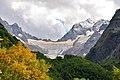 Тебердинский заповедник. Вид на ледник и перевал Птыш.jpg