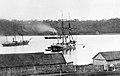 Шхуна Ермак, пароходо-корвет Америка и транспорт Манджур в бухте Золотой Рог.jpg