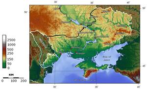 South-Eastern Ukraine - Map of South-Eastern Ukraine