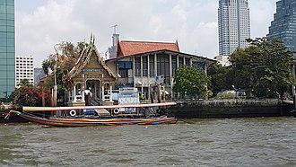 Sala (Thai architecture) - Thai architecture Sala of Wat Muang Khae pier by the Chao Phraya River