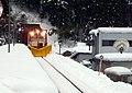 樽見駅にやってきたラッセル車 - panoramio.jpg