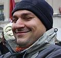 009 Protest gegen Acta in Munich - Sprecher der Gruenen.JPG