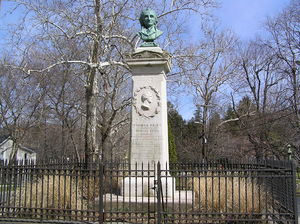 Thomas Paine's monument on North Avenue in New Rochelle, New York