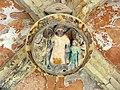 074 Sant Jeroni de la Murtra, galeria nord del claustre, clau de volta.JPG