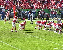 Johnson lining up in the Wildcat formation in 2008. df90e5a85