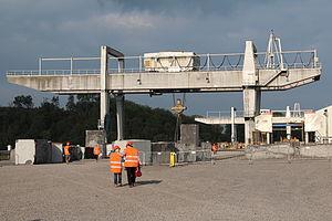 Overhead crane - Overhead cranes of the Hainaut carries in Soignies (Belgium).