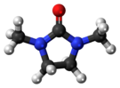 Ball-and-stick model of the 1,3-dimethyl-2-imidazolidinone molecule