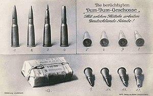 Expanding bullet - German WW I propaganda: French Dum-Dum bullets (ca. 1916)
