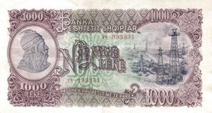 1000 lekë de Albania en 1949 Obverse.png