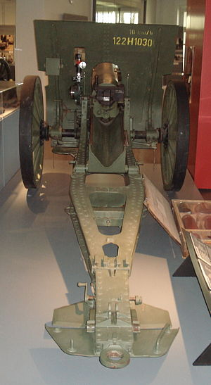 122 mm howitzer M1910/30 - M1910/30 in the Artillery Museum of Finland.