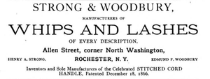 Henry A. Strong - 1887 Ad for Strong and Woodbury Lashes
