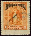 1894 1c Nicaragua Franqueo Oficial used YvS42 MiD42.jpg