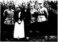1916 - Generalul Prezan, Olga Prezan, Olga Prezan, o rudă, maior Ion Antonescu, căpitan M. Tomaide - văr lui Antonescu.PNG