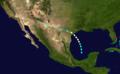 1929 Atlantic hurricane 1 track.png