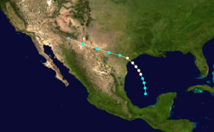 1929 Atlantic hurricane season - Image: 1929 Atlantic hurricane 1 track