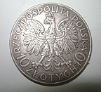Moneda de 10 złotych de 1933 reverse.jpg