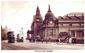 Kelvin Hall - Image: 1938 Kelvin Hall Glasgow postcard