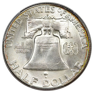 United States Sesquicentennial coinage - Image: 1950 D 50C (Full Bell Lines) (rev)