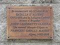 196 Placa en record de la Batalla d'Alpens, c. Graell - c. Rosers (Alpens).jpg