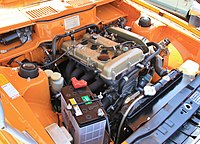 1971 Mitsubishi Galant GTO-MR engine room.jpg