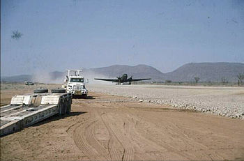 Photograph of the airstrip at Opuwo
