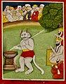 19th century Janam Sakhi, Guru Nanak meets Kauda the cannibal.jpg