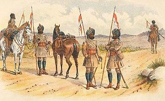 13th Lancers - Image: 1ST BOMBAY LANCERS, FIELD SERVICE KIT 1885