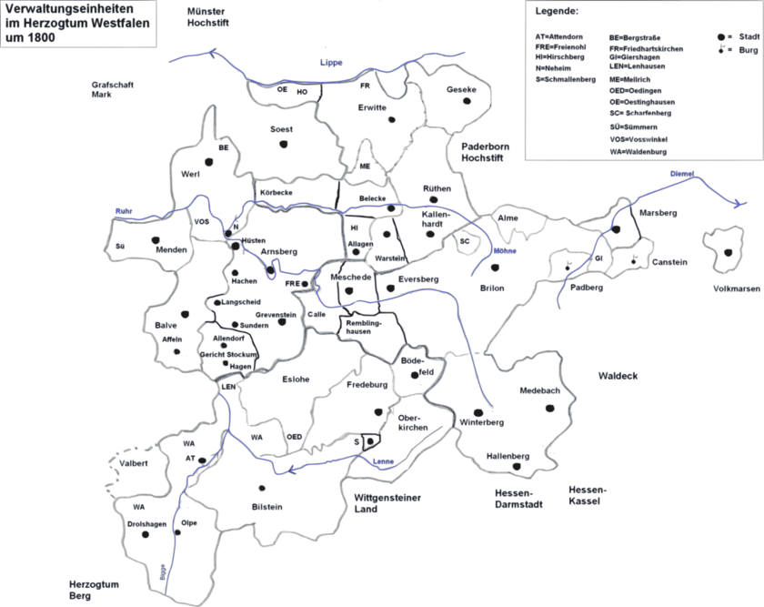 Herzogtum Westfalen