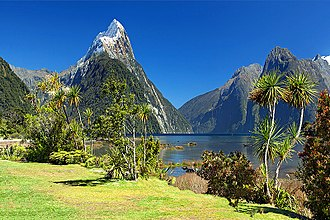 Tourism in New Zealand - Milford Sound, one of New Zealand's most popular tourist destinations.