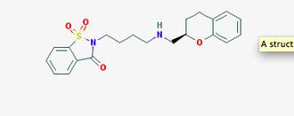 Repinotan - 2-D Structure of Repinotan Hydrochloride