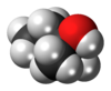 Spac-satiga modelo de la 2-metilo-2-butanolo