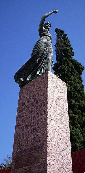 Lebanese Uruguayans - Memorial to the Uruguayan national hero José Gervasio Artigas, dedicated by the Lebanese community in Uruguay.