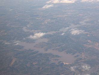 Lake Jackson (Georgia) - Lloyd Shoals Dam and Jackson Lake