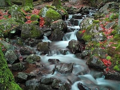 Grande cascade de Tendon. Photo réalisée avec un filtre ND16.